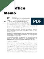 2006 - City Manager Jaime Aguilera's Memos to Mayor, City Comm. & Attorney