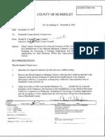 MMJNEWS Humboldt County BOS MMJ Ordinance Extension 20121204