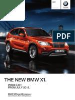 BMW UK 2012 X1 Price List