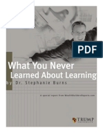 Stephanieburns - What You Never Learned About Learning