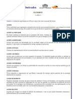 Glosario de Bolsa Chilena
