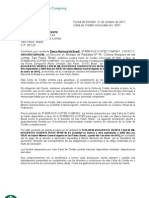 Modelo Carta Credito 2011