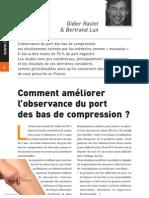 Comment améliorer l'observance du port des bas de compression ?