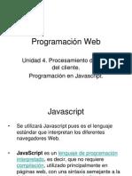 Unidad 4 Programación Web