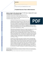 Reliability of Peak Treadmill Exercise Tests in Mild Alzheimer