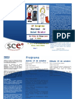 Tríptico IV Congreso Nacional Salud Escolar