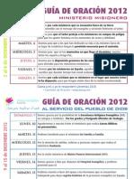 Guía Oración Diciembre 2012