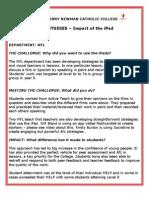 JHNCC MFL iPad case study