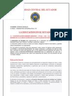 La Educacion en El Ecuador