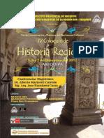 IV Coloquio de Historia Regional Arequipa 2012