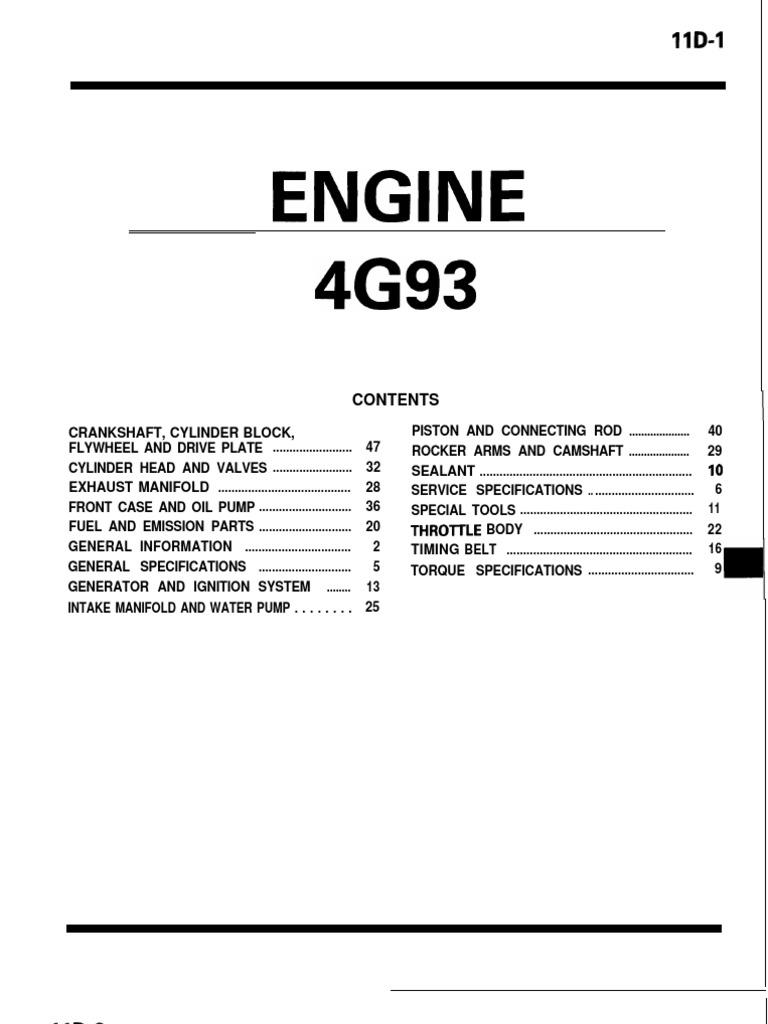 4g93 lancer engine piston cylinder engine rh scribd com 4G92 Mivec 4G92 Mivec