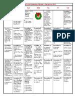 Calendar for December 2012 for Website