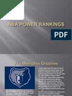 NBA Power Rankings 2013