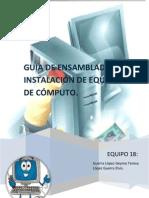 Guia de ensamblado de instalación del equipo de computo.