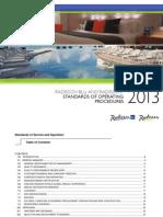 2013 Standards of Operating Procedures
