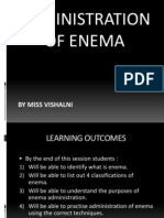 Enema Presentation