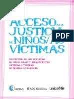 Acceso a la justicia de niños-as víctimas-UNICEF