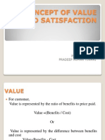 Concept of Value and Satisfaction