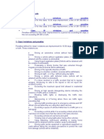 Traffic Penal Code and Fines