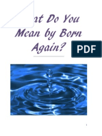 What Do You Mean by being Born Again