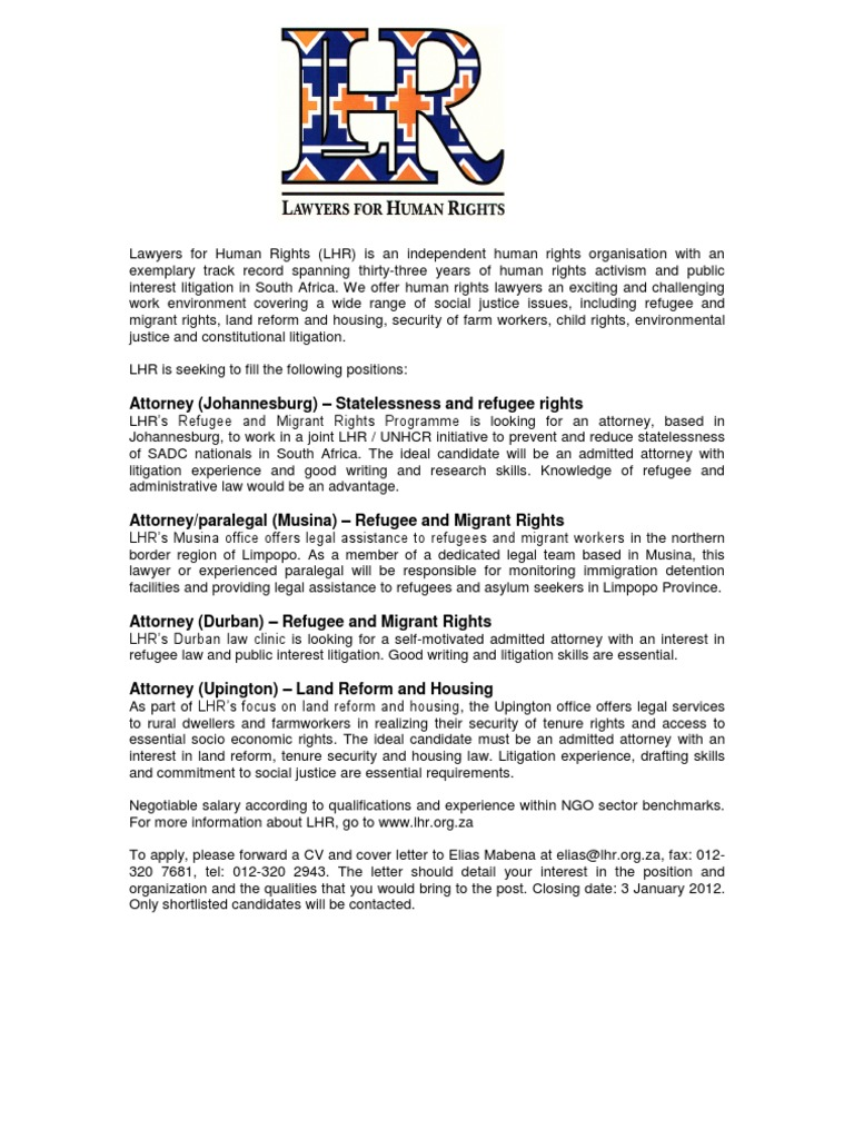 Lhr is hiring lawyer refugee expocarfo