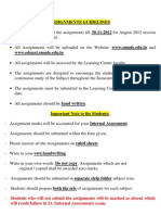 Assignments - Guidelines