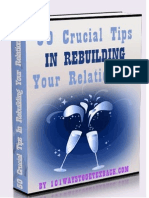 50 Crucial Tips in Rebuilding Your Relationship