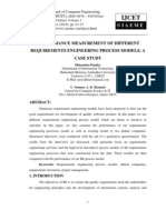 Performance Measurement of Different Requirements Engineering Process Models a Case Study