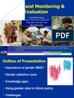 Gender and Monitoring & Evaluation