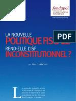 La nouvelle politique fiscale rend-elle l'ISF inconstitutionnel ? - Aldo Cardoso