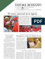 L´OSSERVATORE ROMANO. 02 Diciembre 2012