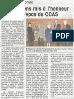 Les doyens mis à l'honneur au repas du CCAS