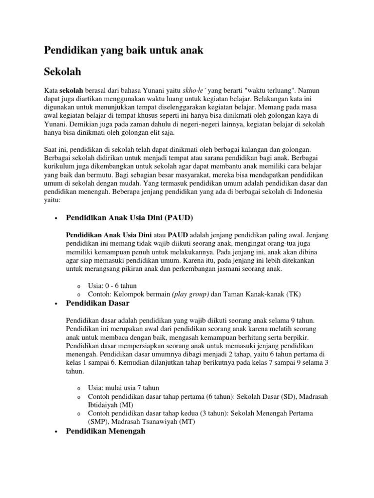Kumpulan Artikel Pendidikan