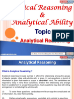 Logical Reasoning Analytical Ability Analytical Reasoning
