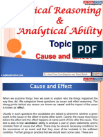 Logical Reasoning Analytical Ability Cause Effect