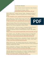 Bibliografia sobre as Charter Schools