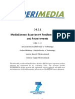 D4.5.1 MediaConnect Experiment Problem Statement and Requirements