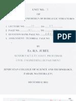 Hydraulic Structure UNIT 3