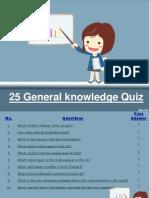 25 General Knowledge Quiz