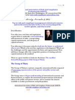 Monday November 5 2012 Top 10 Risk Compliance News Events