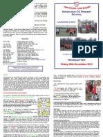 Newsletter Friday 30th November