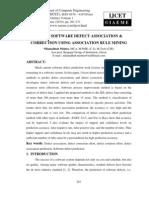 Art of Software Defect Association & Correction Using Association Rule Mining