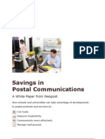 How to Save on Postal Communications