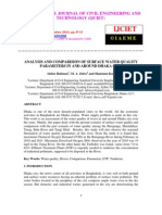 Analysis and Comparision of Surface Water Quality Parameters in and Around Dhaka City
