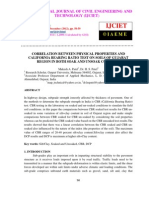 Correlation Between Physical Properties and California Bearing Ratio Test on Soils of Gujarat Region in Both Soak and Unsoak Condition