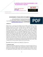 Engineering Utilization of Marble Slurry
