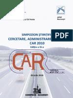 Simpozion CAR 09 iulie 2010 CFDP Bucuresti Editia a III a