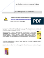 Bibliographie Philosophie Terminale Rentre 2010-2011