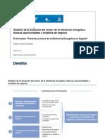 Análisis de la situación del sector de la eficiencia energética. Nuevas oportunidades y modelos de negocio
