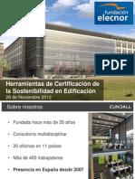 Herramientas de Certificación de la Sostenibilidad en Edificación
